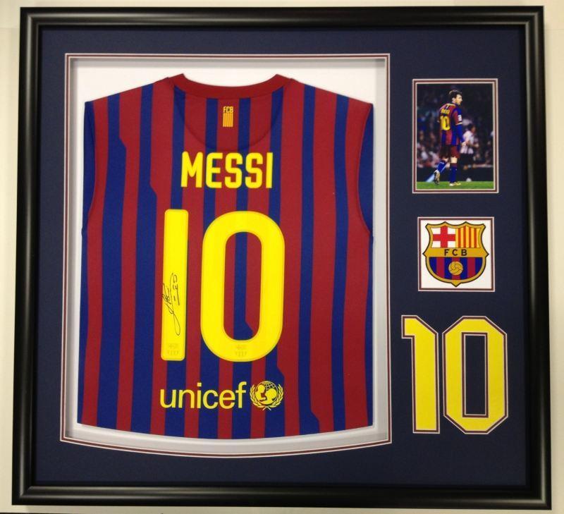 Customised football shirt framing