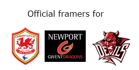 official picture framers for cardiff city football clulb - newport gwent dragon - cardiff devils ice hockey