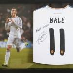 Gareth Bale signed and framed Real Madrid Football Shirt