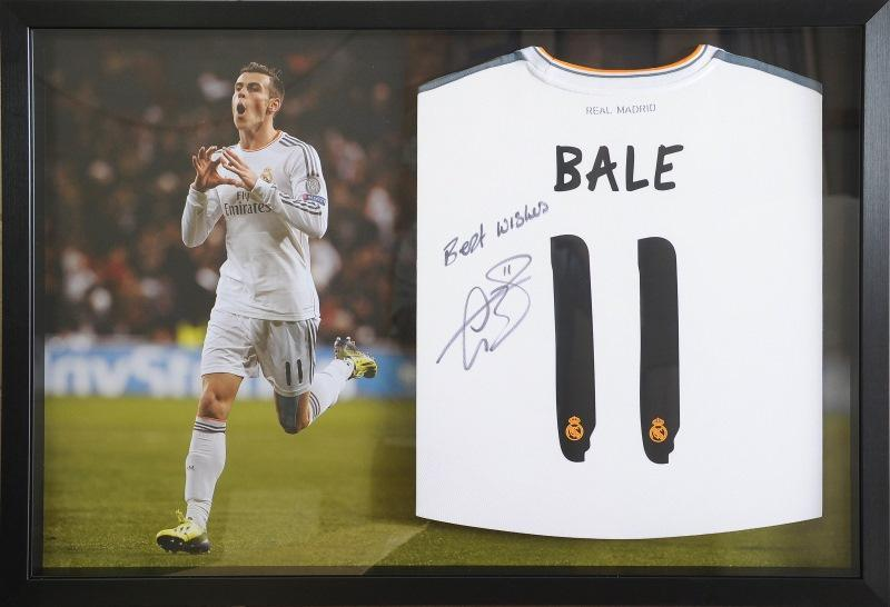 Customised football shirt framing