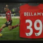 Craig Bellamy Framed Footbal Shirt - with background image