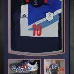 Team GB Olympic Football Team framed and boots