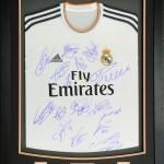 Real Madrid signed shirt and framed
