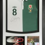 Wales Football Away framed shirt